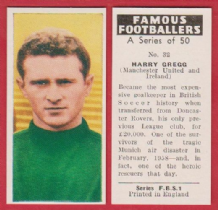 Manchester United Harry Gregg Northern Ireland